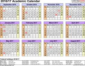 Guinea Kalendar 2018 Academic Calendars 2016 2017 As Free Printable Pdf Templates