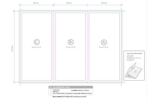 a4 half fold card template folded flyer artwork template