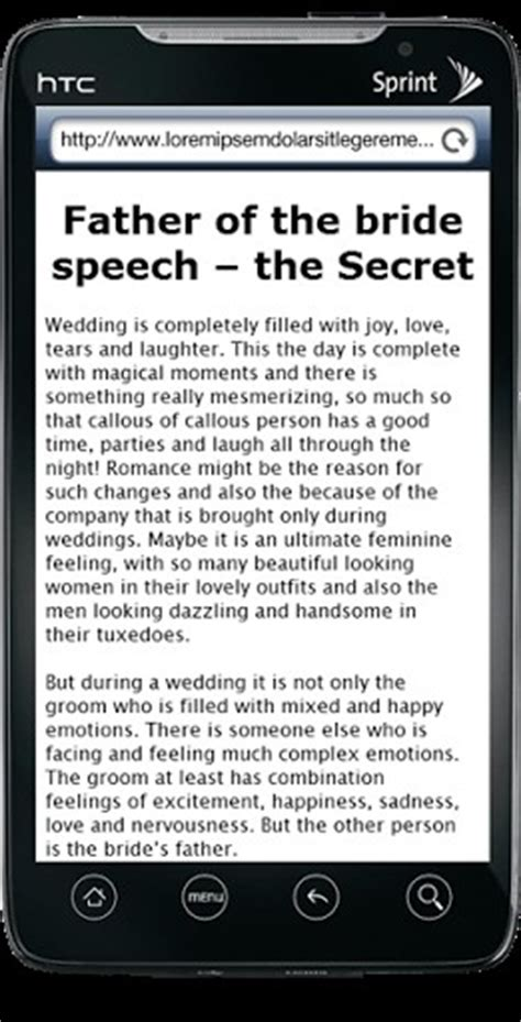 Download Father of the bride speech for Android   Appszoom