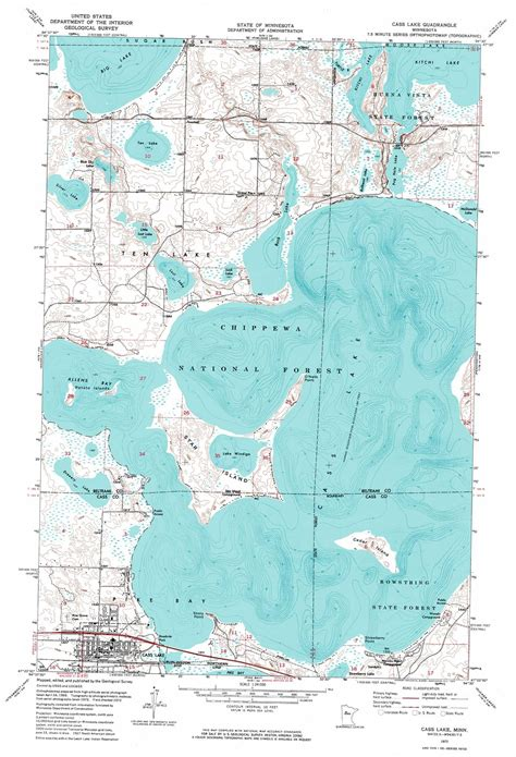 lake map cass lake topographic map mn usgs topo 47094d5
