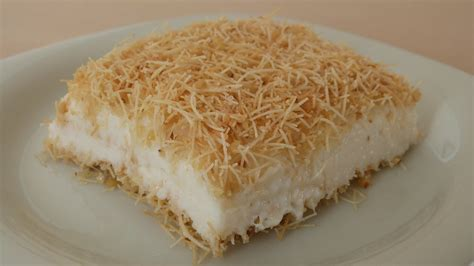 ottoman desserts traditional turkish kanafeh with milk pudding desserts