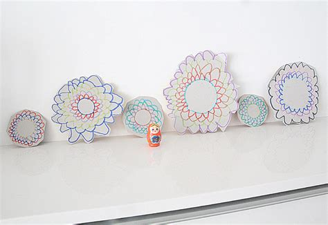 Drawing Crafts For Recycled Cardboard Flowers