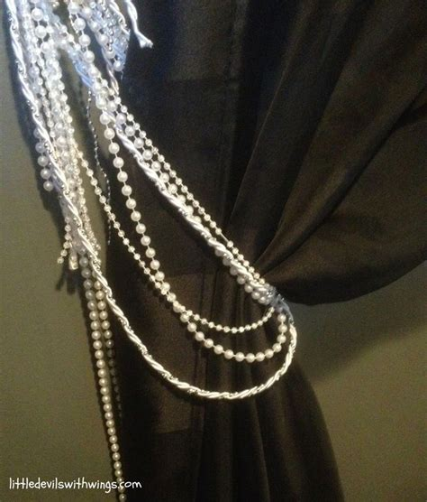 diy bead curtain diy beaded curtain tie backs tie backs pinterest