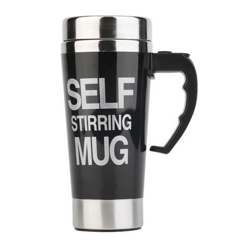 Stainless Steel Self Stirring Mug Auto Mixing Tea Coffee Cup Office Gifts XG   eBay