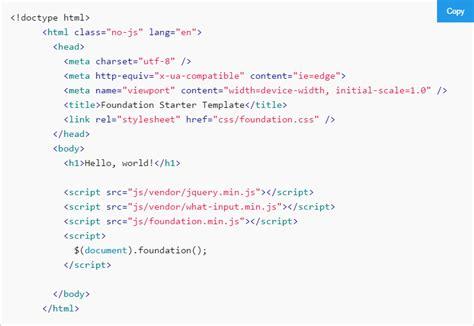 foundation6のhtmlテンプレートを見てみよう foundation6とsassでサイトをつくる