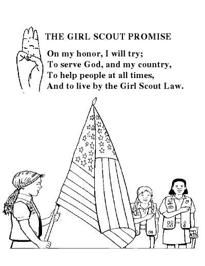 Scout Promise Coloring Page Free 1000 Images About Gs Promise Law On Pinterest by Scout Promise Coloring Page Free