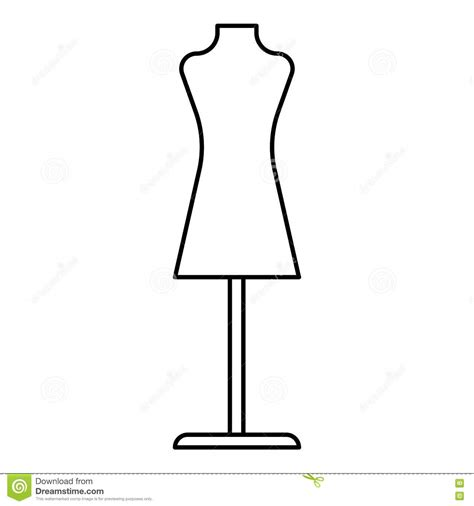mannequin template for fashion design mannequin icon outline style stock vector image 79675312