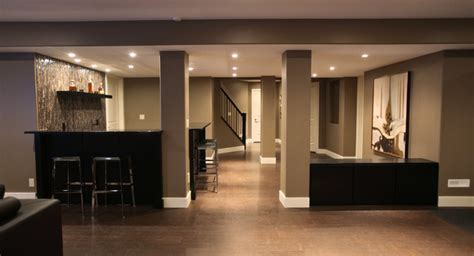 rothenberg basement development modern basement calgary by abode