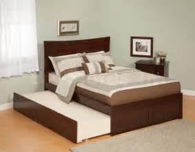 Flat Platform Bed Frame Furniture Walnut Flat Size Platform Bed Frame With Drawer Trundle Flat Platform