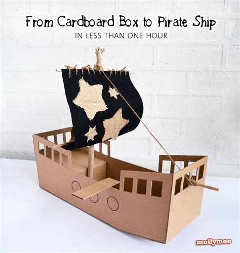 cardboard pirate ship template diy cardboard pirate ship