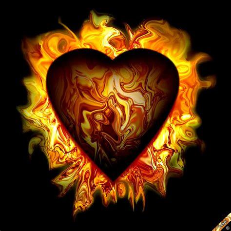 imagenes de love con fuego gif de corazones con fuego imagui