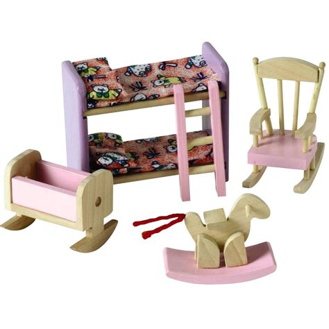 furniture for dolls house wooden dolls house childrens bedroom furniture ebay