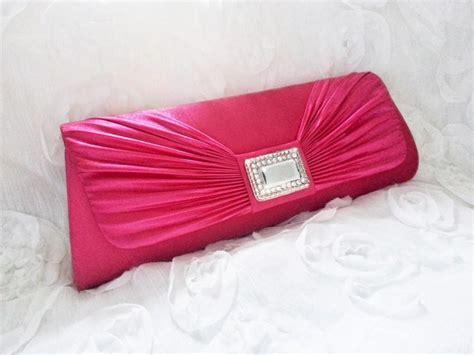 Clutch Satin Pink pink bridal rhinestones clutch bridal wedding clutch bag