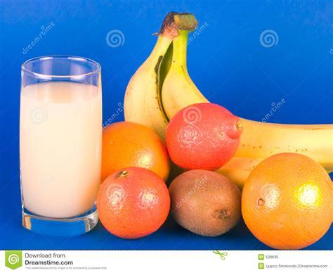 fruit milk various fruit and glass of milk stock photo image 528630