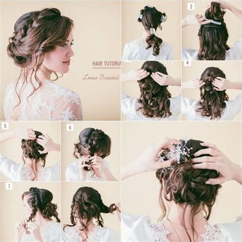 Wedding Braid Hairstyle Tutorial by How To Diy Pretty Braid Bridal Hairstyle Tutorial