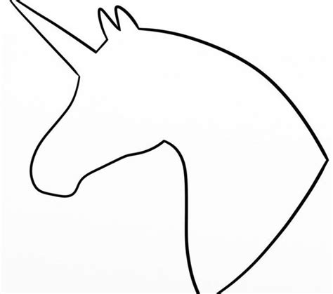 simple outline pictures simple outline unicorn profile