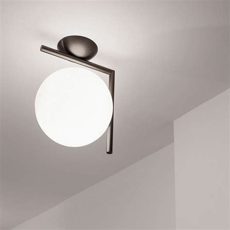flos ic scone opal glass ic c w wall sconce by flos