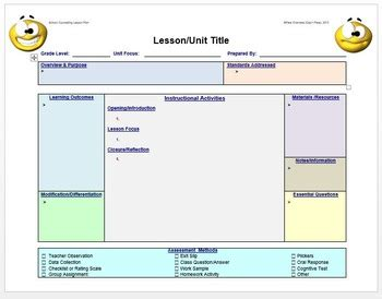 school counseling lesson plan template lesson plan template school counseling editable by cap