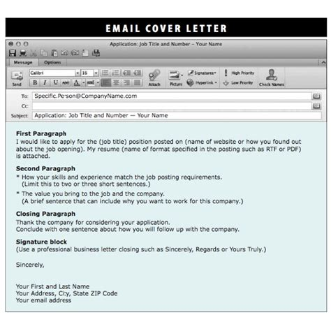 best solutions of format for sending a cover letter via