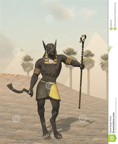 anubis egyptian god   dead stock image image