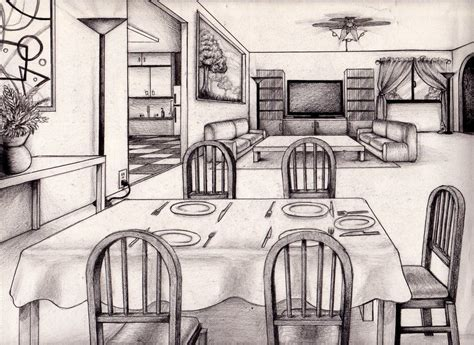 1 Point Perspective Room Ideas by 1 Point Perspective Room 04 Dibujos De Casas