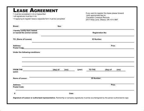 8 simple rental agreement template printable receipt