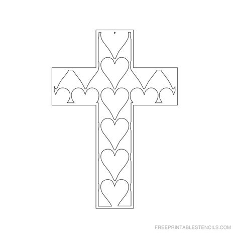 printable iron cross stencil printable cross stencils and hearts free printable stencils