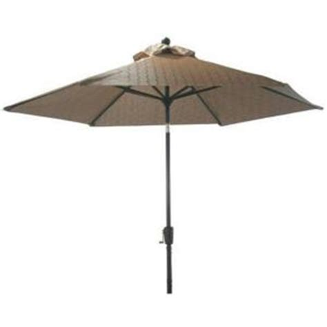 Patio Umbrella Home Depot Martha Stewart Living Solana Bay 9 Ft Patio Umbrella In Mk9081 The Home Depot
