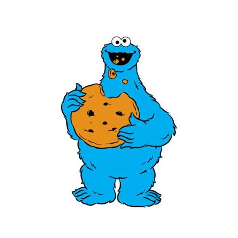 sesame street cookie monster clipart clipartxtras