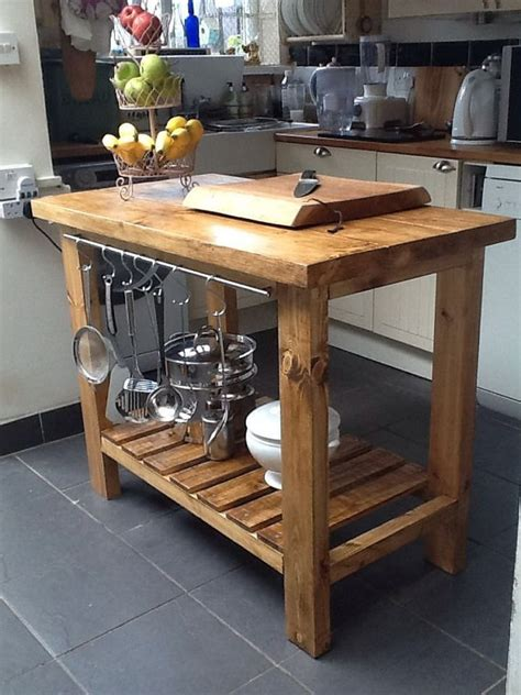 Wooden Kitchen Island Table Handmade Rustic Kitchen Island Butchers Block Delivery Charge