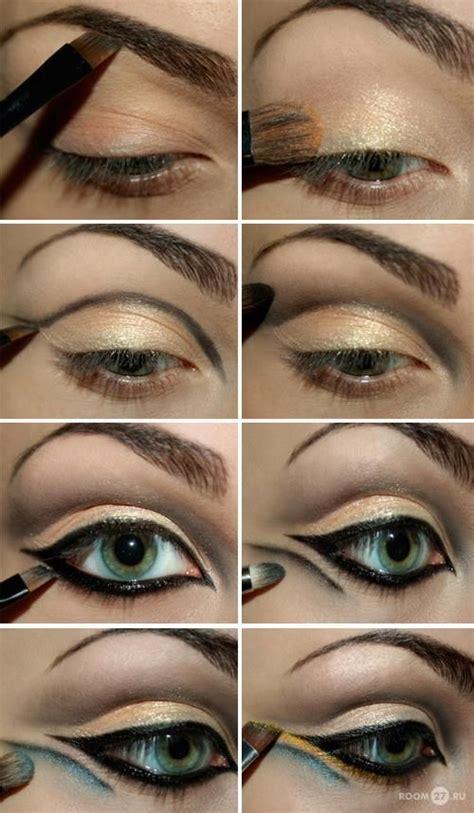 tutorial eyeliner cleopatra cleopatra eyes hair make up pinterest