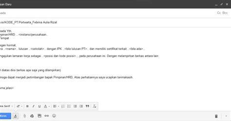 email hrd jitu cara mengirim lamaran kerja via email agar lolos
