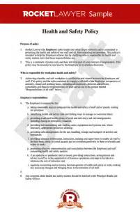 health and safety policy template health safety policy health safety policy template