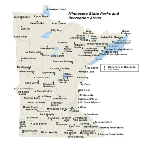 mn state parks map state parks of minnesota