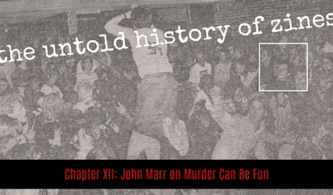 san francisco chronicle pink section the untold history of zines john marr on murder can be fun