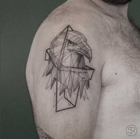 low poly geometric animal tattoos by belgian artist sven