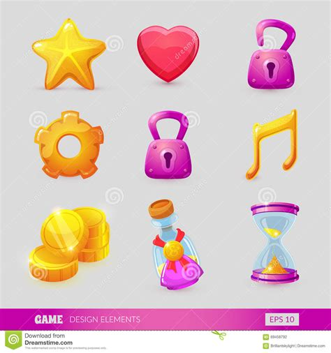 game design elements in vector from stock 2 set with game design elements stock vector image 69458792