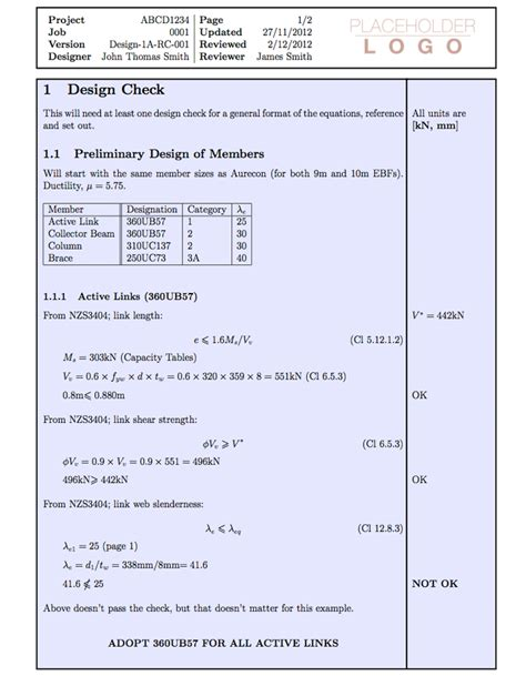 templates 187 engineering calculation paper