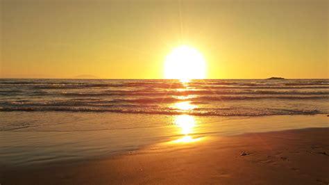 wallpaper sunset beach horizon  nature