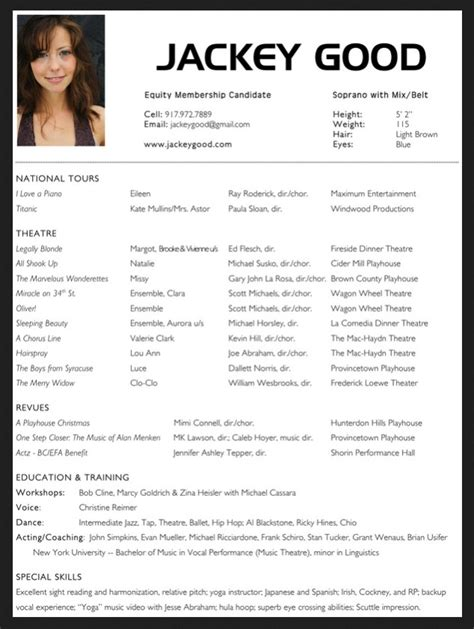 theater resume template 10 acting resume template for microsoft word http