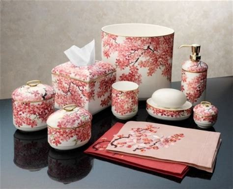 japanese bathroom accessories cherry blossom bathroom accessories master bathroom
