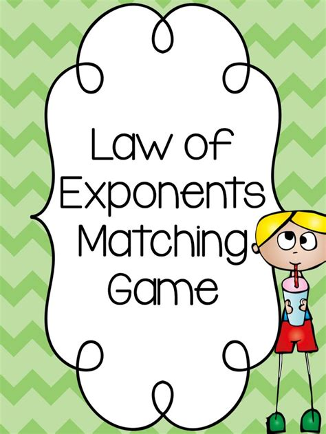 printable exponent games simple matching game to practice exponent rules perfect