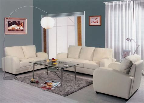 white leather living room furniture modern house