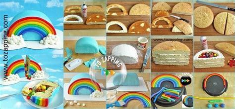 una tarta sencillsima de hacer con colores muy primaverales c 243 mo hacer una tarta pi 241 ata con forma de arco iris
