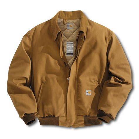 Carhartt Quilt Lined Jacket by Carhartt Resistant Duck Bomber Jacket Quilt Lined Frj195