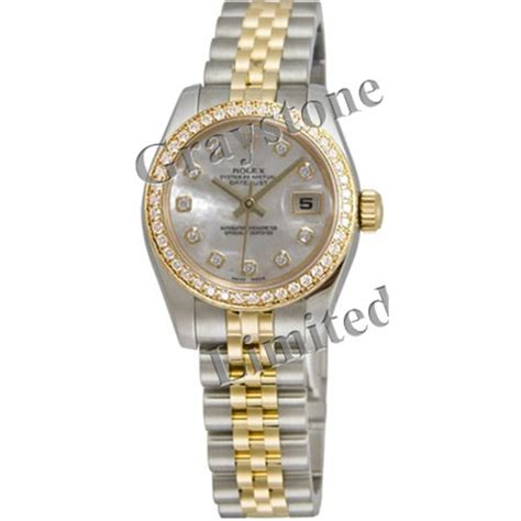 Graystone's Greatest Watches: Women's Rolex Oyster Perpetual Lady Datejust Watch