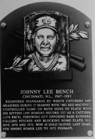 johnny bench hall of fame hall of fame baseball player bench praises bruce