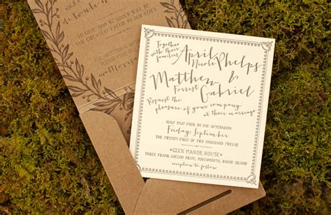 Garden Wedding Invitation Ideas April Matt S Garden Wedding Invitations
