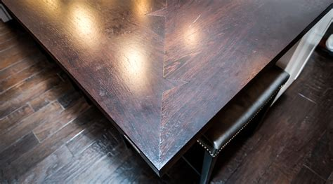Countertop Joint by Wood Countertops With Shark Tooth Miter Joints