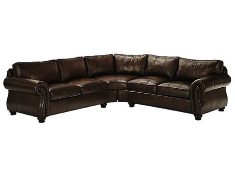 Bernhardt Gogh Leather Sectional by 301 Moved Permanently